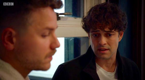 #HolbyCity (20/10) Dominic (David Ames) and Lofty (Lee Mead)