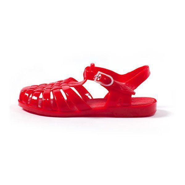 2024f4cbf133 jelly sandals (73 BRL) ❤ liked on Polyvore featuring shoes