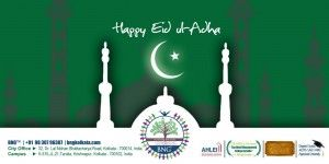 Happy EId ul Adha  Happy EId ul Adha  Muslims around the globe consider that Allah (God) commanded Ibrahim (Abraham) to sacrifice his son Ishmael. #Greetings #EIdUlAdha #Muslims #BNG #BNGKolkata #HotelManagement  Ibrahim adopted Gods orders but his son used to be changed by means of a sheep at the final second. Muslims rejoice this at Eid al Adha. Eid al-Adha is referred to as Eid ul Adha in Arabic and Bakr-id within the Indian subcontinent because of the subculture of sacrificing a goat or…