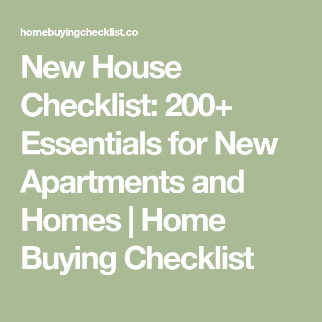 The  Best New House Checklist Ideas On   Moving