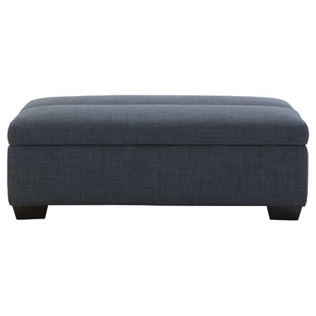 Sleepover Ottoman Dexter Licorice | Click to shop now!