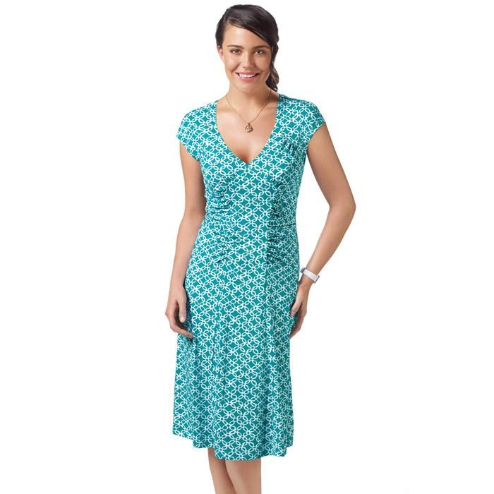 """Party prep is a snap with our best-selling, lightweight and soft fabric silhouette in a cute spring print. Features a v-neck and flattering ruching on the sides of the center panel and by the cap sleeves.· 95% Polyester, 5% Spandex· Length from highest point of shoulder (front): Approximately knee length - 41"""" (medium); 42-1/2"""" (2X)· Machine wash cold with similiar colors; do not use chlorine bleach, use only non-chlorine bleach, if needed. Tumble dry low; cool iron as needed.· Imported"""