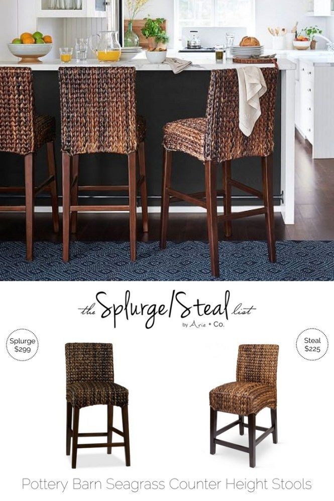 Pottery Barn Seagrass Bar Stools Arie Co Seagrass Bar Stools Kitchen Remodel Kitchen Renovation