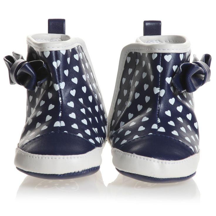 Mayoral - Baby Girls Blue Heart Pre-Walker Boots | Childrensalon