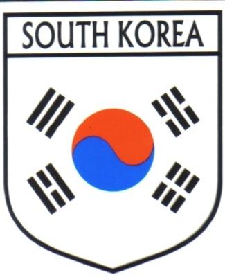 SOUTH KOREA Flag Country SOUTH KOREA Flag Sticker