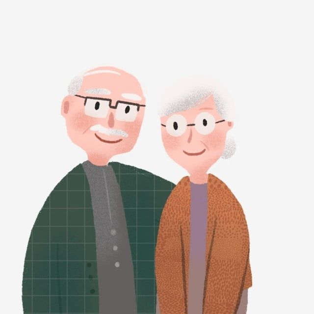 Hand Drawn Cute Elderly Couple Grandparents Clipart Cute Lderly Png Transparent Clipart Image And Psd File For Free Download Illustration Character Design How To Draw Hands Cute Old Couples