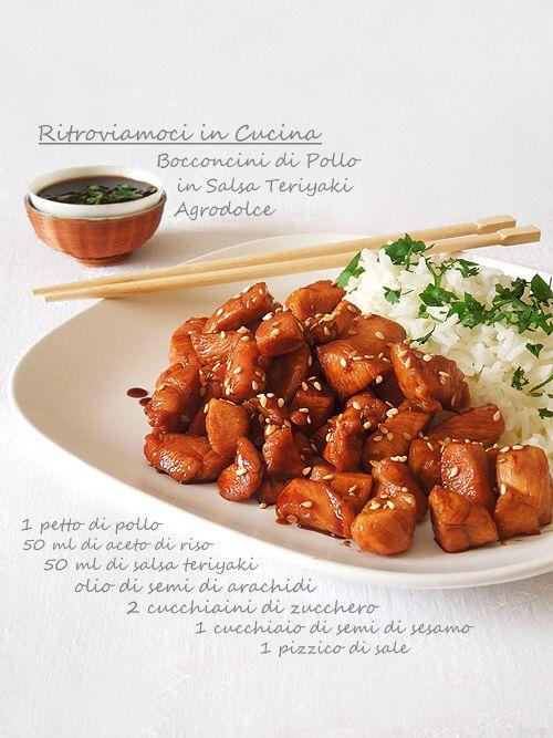 Ritroviamoci in Cucina: Bocconcini di Pollo in Salsa Teriyaki Agrodolce da ThreeF (apriamoci al mondo)