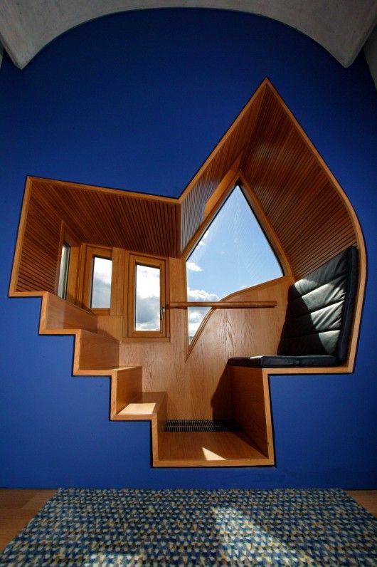 window seat, inside - Scottish Parliament Building - Edinburgh - Enric Miralles