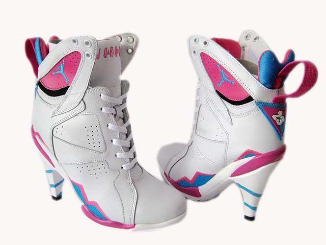 nike air jordan high heels?..kinda defeats the purpose of both high heels and running shoes, doesn't it?