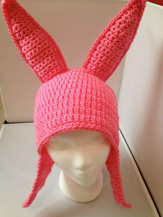 PATTERN  Pink Bunny Ear Hat  Beginner Friendly by letthewookieknit