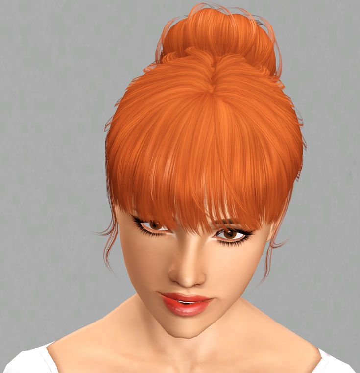 Bun on neck with bangs S-Club hairstyle retextured by Traelia for Sims 3 - Sims Hairs - http://simshairs.com/bun-on-neck-with-bangs-s-club-hairstyle-retextured-by-traelia/