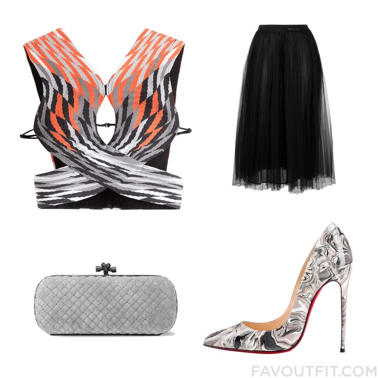 Wardrobe Tips Including Alexander Wang Top Elastic Waist Skirt Christian Louboutin Pumps And Velvet Clutch From December 2016 #outfit #look