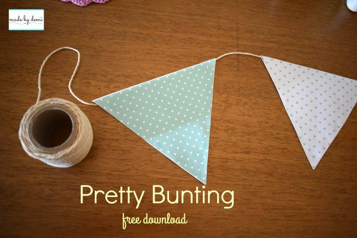 Pretty Pastel Bunting | Free Download | made by demi