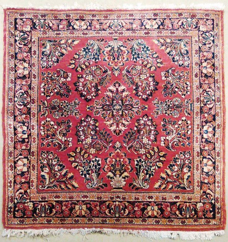 "NLR 486- Antique Persian rug. 3'3""x 3'3"" #Persian #Floral"