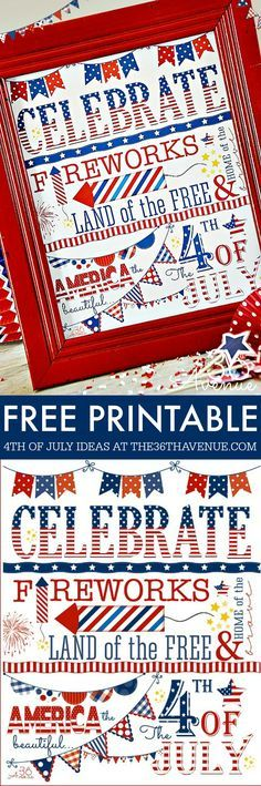 4th of July Free Printable – Betsy Harris