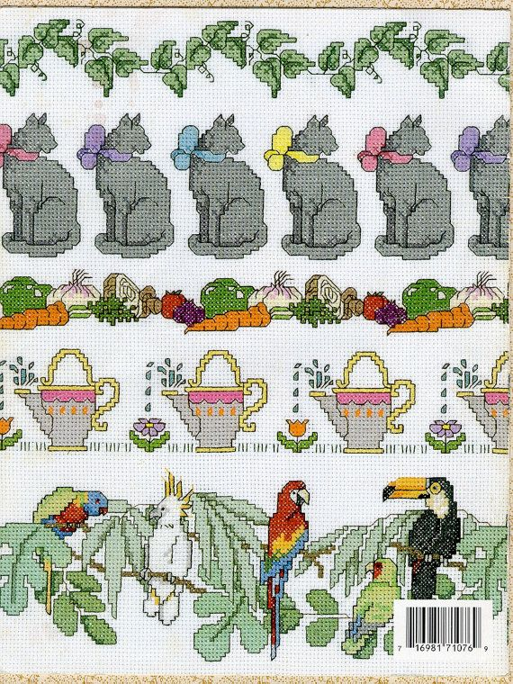 Country Borders Cross Stitch Embroidery by HermionesCloset on Etsy, $4.00