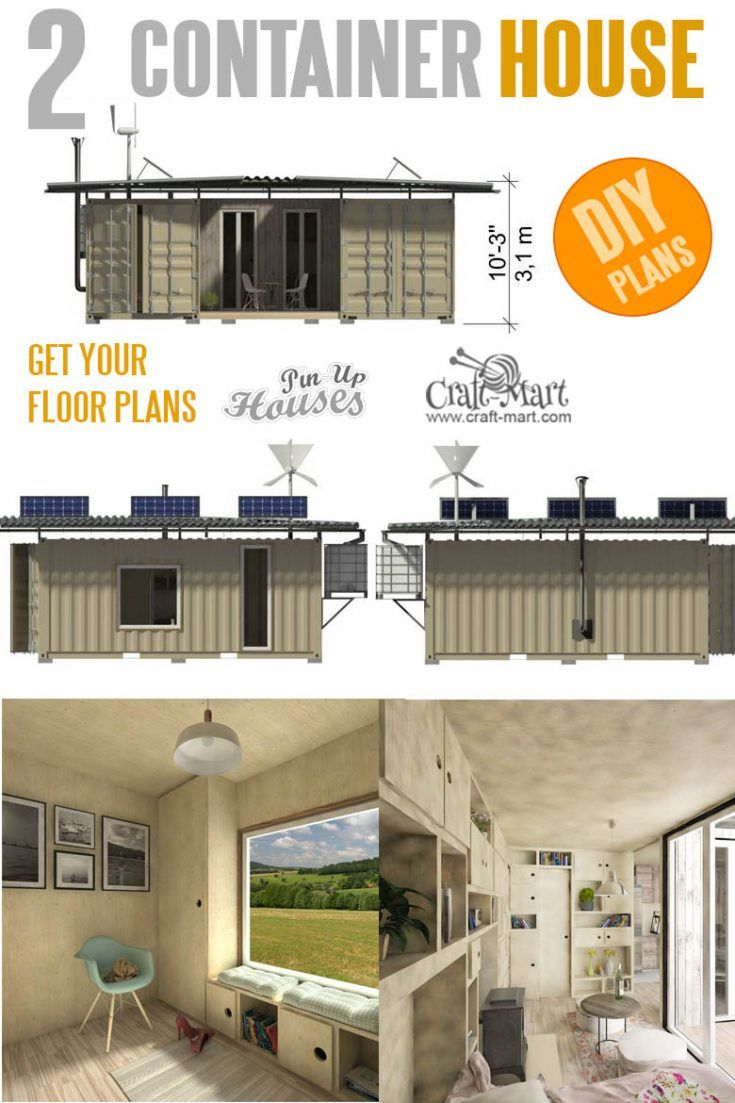 Two Container House Plans With Images Container House Tiny