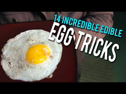 14 Incredible Edible EGG Tricks! - YouTube