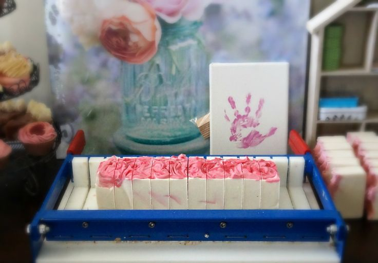 My soap work table. With a handprint of my daughter. Love this photo. Follow my Instagram @maylillysoaps