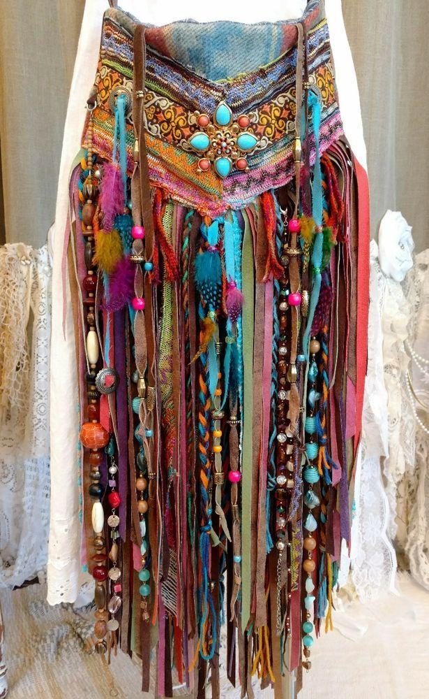 Handmade Fabric Shoulder OR Crossbody Fringe Bag Hippie Boho Gypsy Purse tmyers #HandmadebyTraciMyersMe #CrossbodyShoulderORCrossbodyBag