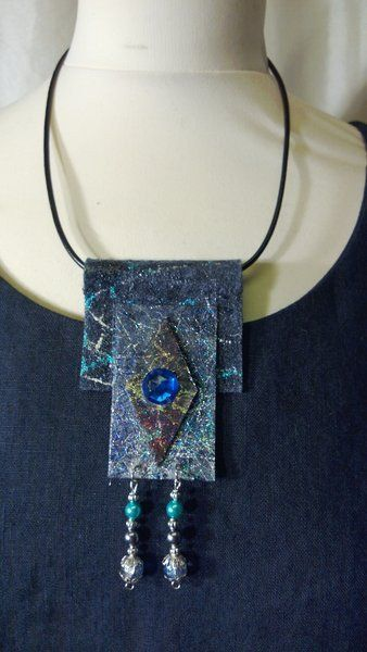 Textile Necklace - Quilting Paradise