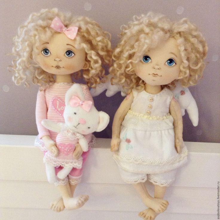 Купить Интерьерная кукла - комбинированный, интерьерная кукла, игрушка в подарок, коллекционная кукла, детская комната