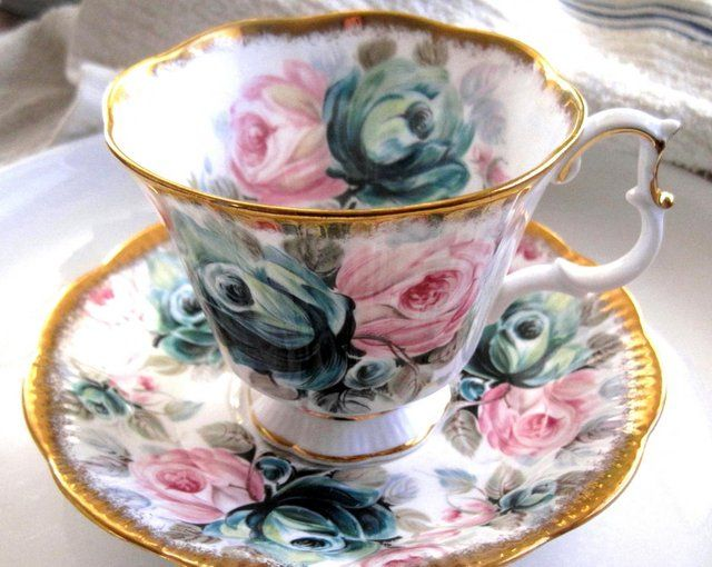 Royal Albert Jade Tea Cup And Saucer Set.