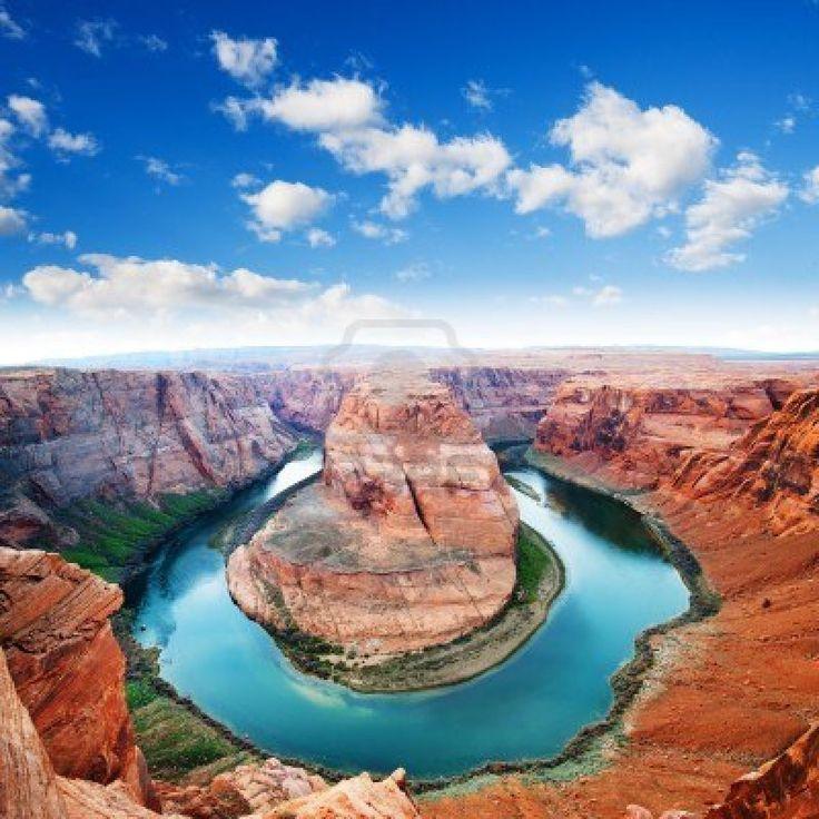 Horse Shoe Bend, north rim Grand Canyon  Page, Arizona, USA Stock Photo
