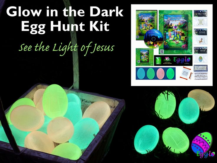 Egglo Eggs is a fun, interactive way to teach children about the light of Jesus through a glow in the dark Easter activity.  The Egglo Kit has everything you need to start your adventure. It includes an interactive story to teach kids about the light of Jesus. In The Egg-cellent Easter Adventure kids search for glowing eggs, just like your kids will do. Kids learn about Jesus in a fun, memorable way. Get your Egglo Egg Hunt Kit now. egglo.com