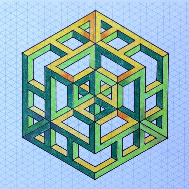 571 best geometry images on pinterest optical illusions for Geometric illusion art