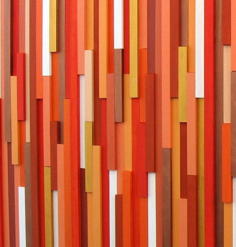 Sticker orange, sticker bois, Sculpture sur bois, décor moderne, accueil et vie