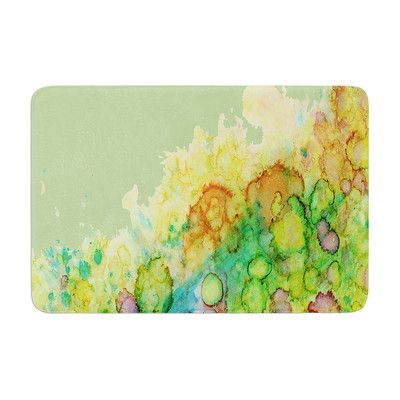 East Urban Home Sea Life by Rosie Brown Bath Mat Color: Green/Yellow