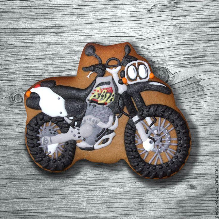 Купить Пряник-копия Мотоцикла Honda Baja 250хr - комбинированный, bike cookies, honda, baja, honda baja, motorcycle cookie