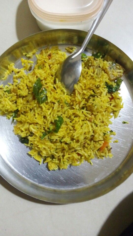 Home made rice fry with spices.