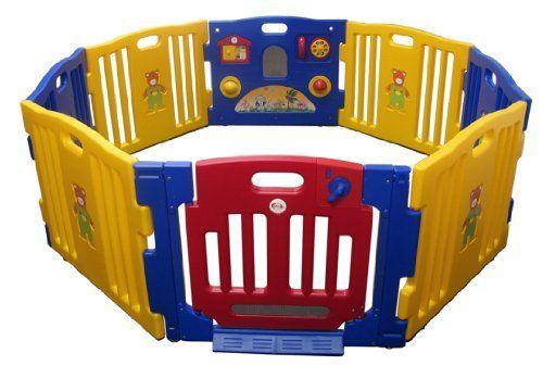 Baby Kids Playpen 8 Panel Play Center Safety Yard Pen Jbw
