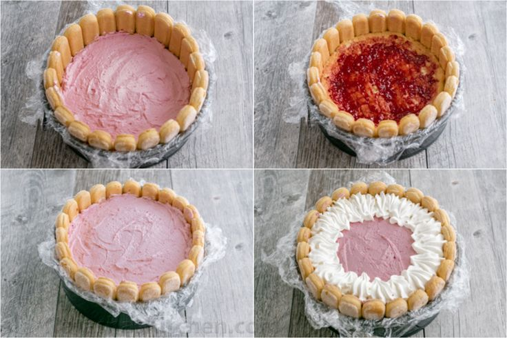 With step-by-step photos, you can master this Raspberry Charlotte Russe Cake at home! Charlotte Dessert with layers of raspberry mousse and fluffy cake.
