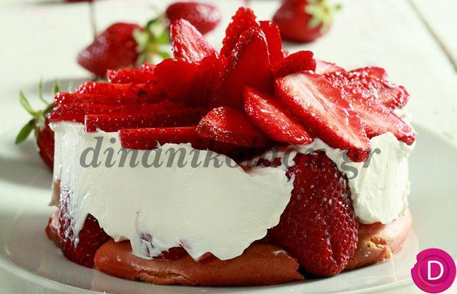 Τιραμισού με φράουλες | Dina Nikolaou