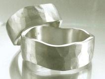 Ehering-Set Sterlingsilber geschmiedet