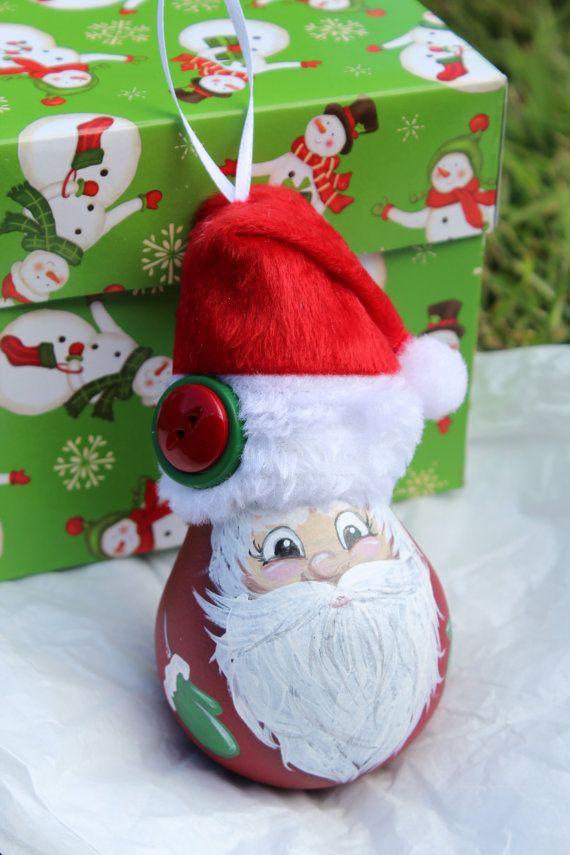 Santa Hand Painted Christmas Ornament By DesignsbyJodyRife