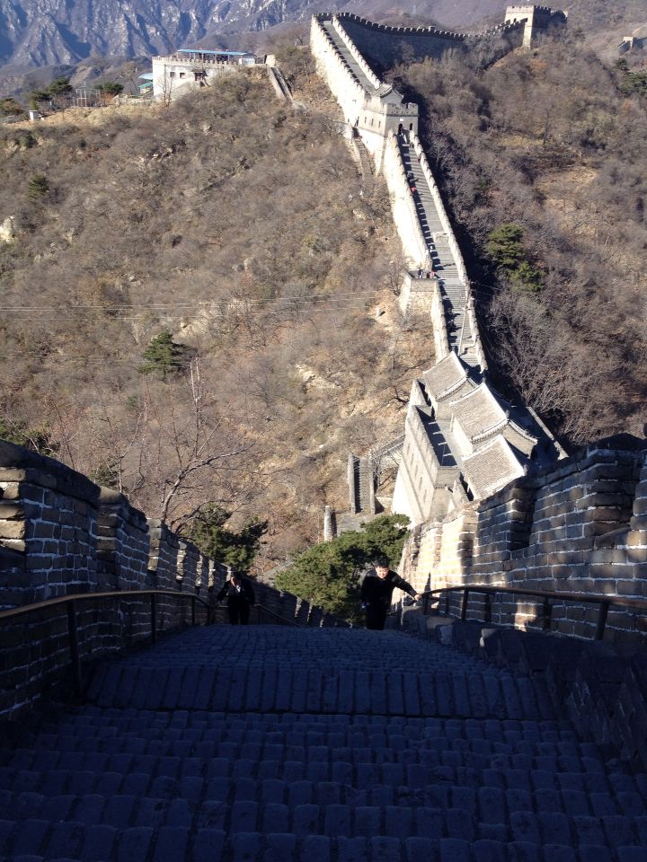 Walking the great wall - Mutianyu
