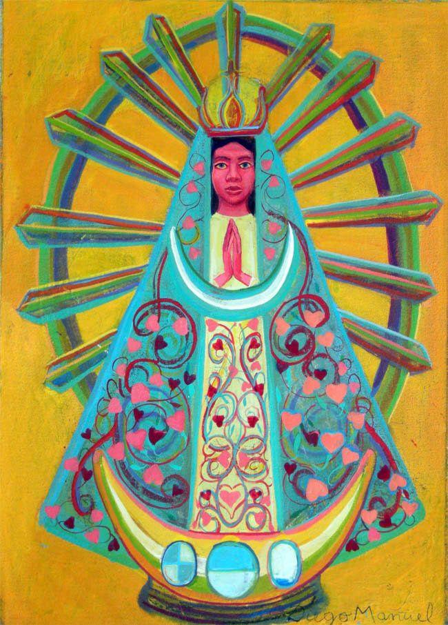 Virgen de Lujan 1, acrylic on canvas. 30 x 21 cm. 2015 painting by Diego Manuel