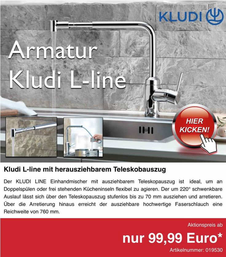 KLUDI Line herausziehbarer Teleskopauszug Der KLUDI LINE