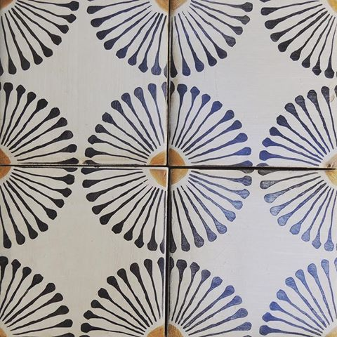 New at Tabarka: Rue des Rosiers 15 #tile #terracotta #handmade #pattern #design #interiordesign #luxury #european #floor #tabarkastudio #new #carrelage #maison