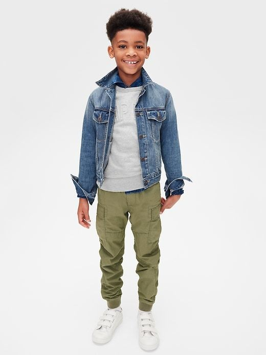 a8aa97d1baf5b Get your boy s wardrobe ready for cooler weather with perfectly put  together outfits from Gap! I love this outfit with a gray logo Graphic  Pullover Sweater