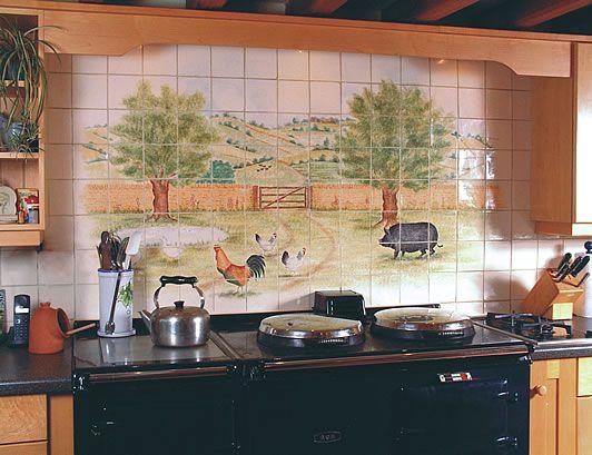 Modern Kitchen Murals 23 best fliser til mit køkken images on pinterest   tile murals