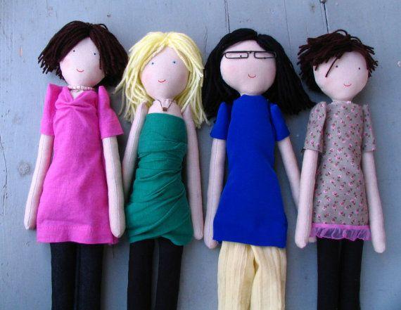 Handmade custom doll Friend doll Girls by apacukababa on Etsy
