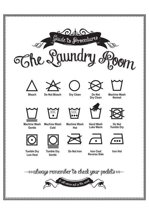 Guide to Procedures Laundry Room #Wall #Art #Print