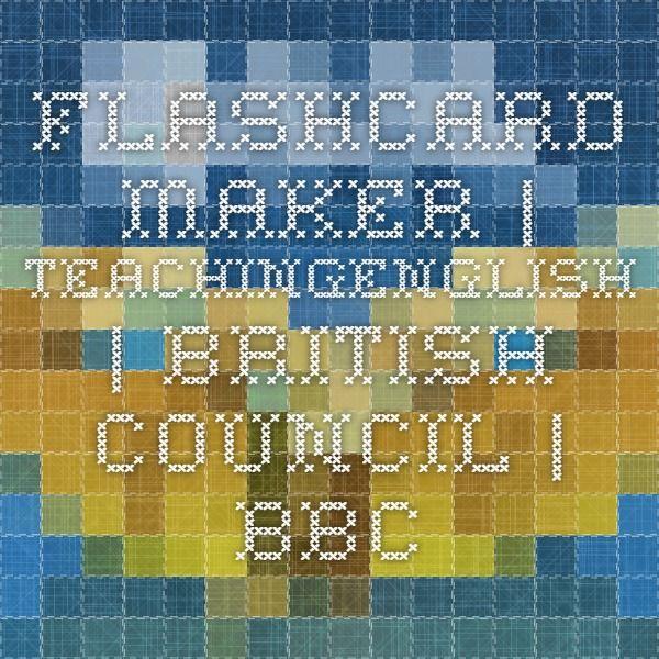 Flashcard maker   TeachingEnglish   British Council   BBC