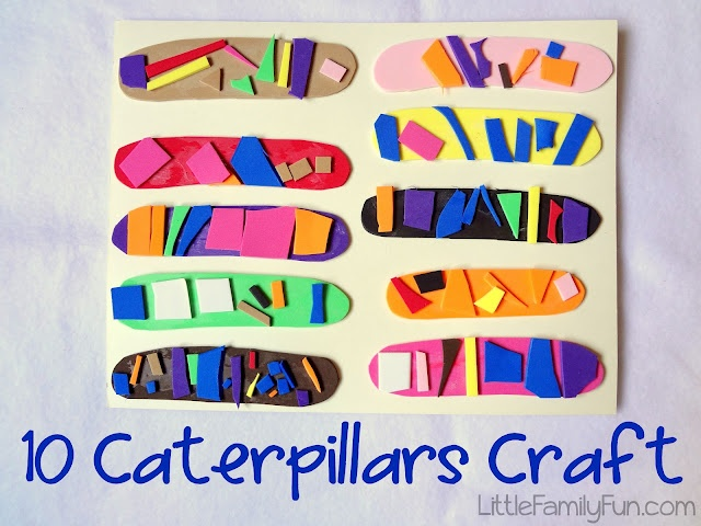 Craft for Book, Ten Little Caterpillars by Bill Martin, Jr.