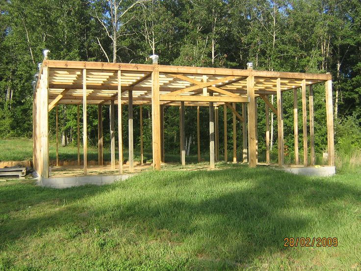 Build a modified post and beam frame beams barn cabin